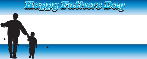 Happy Fathers Day Dad Design Large Personalised Banner - 10ft x 4ft