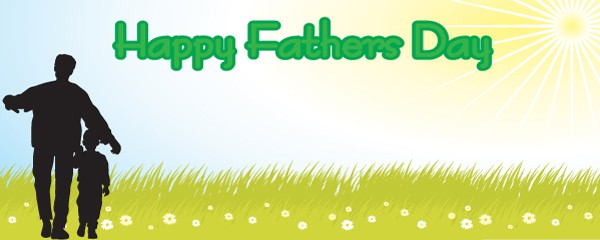 Fathers Day Field Design Small Personalised Banner - 4ft x 2ft