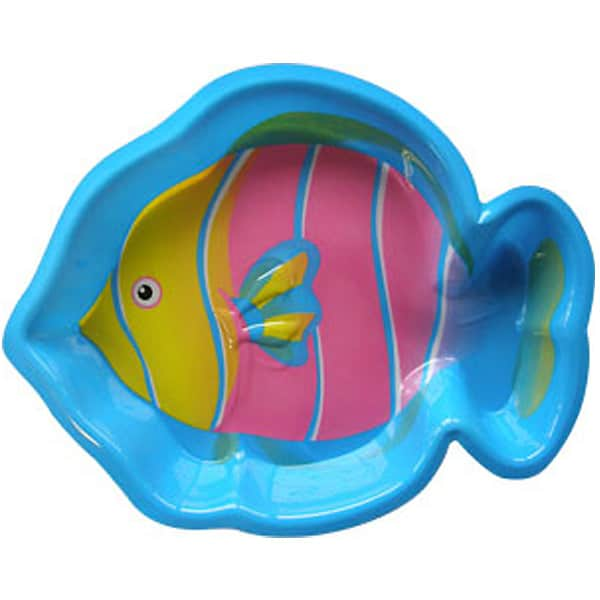 Fish Shape Plastic Snack Trays - 13 Inches / 33cm - Pack of 3