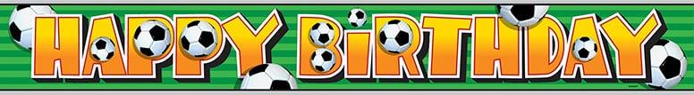 Football Foil Banner – 12 Ft / 366cm