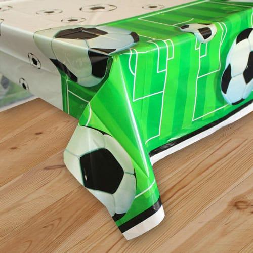 Football Plastic Tablecover - 137cm x 213cm