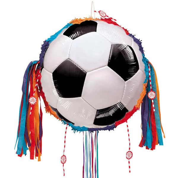 Football Round Pull String Pinata