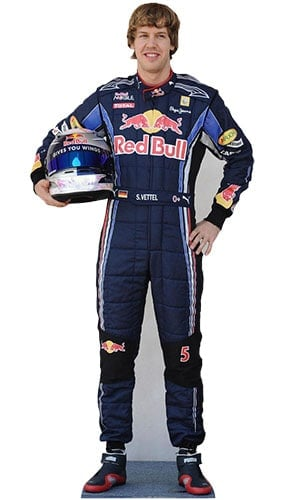 Formula One Sebastian Vettel Lifesize Cardboard Cutout - 172cm Product Gallery Image