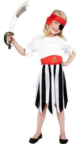 Girl Pirate Costume 6 - 8 Years Childrens Fancy Dress Product Image