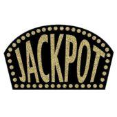 Black Glitter Jackpot Sign – 18 Inches / 46cm