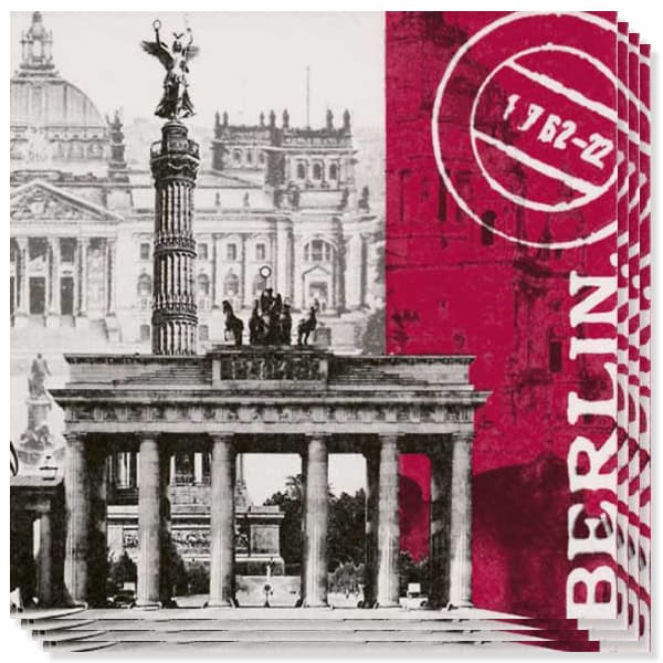 Global City Berlin 3 Ply Napkins - 13 Inches / 33cm - Pack of 20