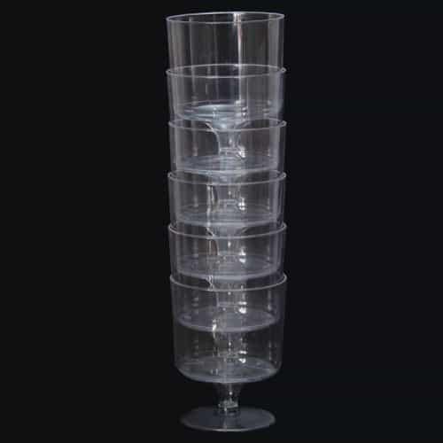 Plastic Wine Glasses - 6oz / 170ml - Pack of 6