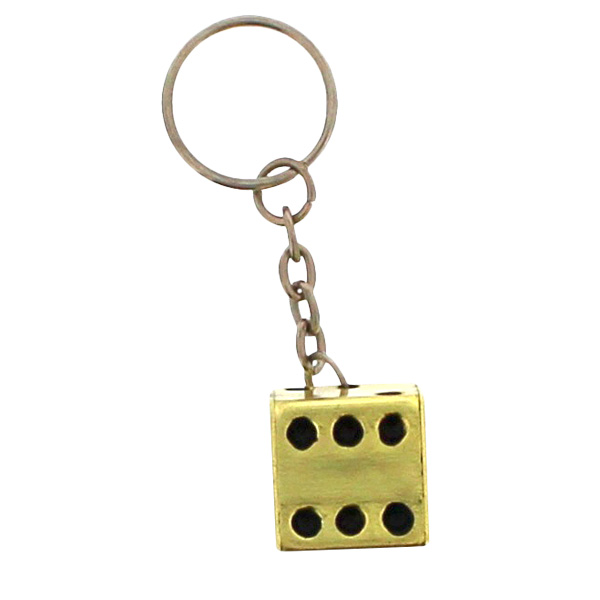 Gold Dice Key Ring