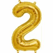 Gold Number '2' Supershape Foil Balloon – 34 Inches / 86 cm
