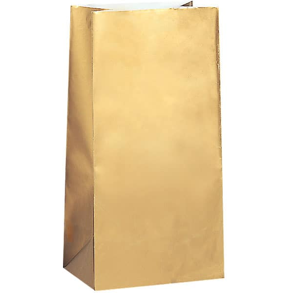Gold Paper Party Bag - Pack of 10 Product Image