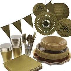 Gold plain tableware