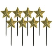 Gold Star Party Food Picks – Pack of 8
