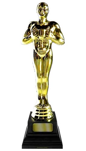 Golden Award Statue Lifesize Cardboard Cutout - 183cm Product Gallery Image