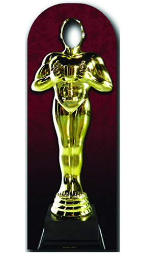 Golden Award Statue Stand In Cardboard Cutout - 183cm Product Gallery Image