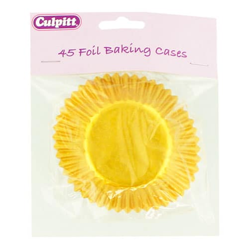 Golden Foil Baking Cake Cases - Pack of 45