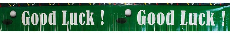 Golf Theme Good Luck Fringe Banner - 56 Inches / 142cm