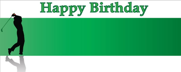 Happy Birthday Perfect Swing Design Small Personalised Banner - 4ft x 2ft