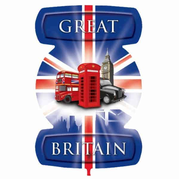 Great Britain Theme London Icons Helium Foil Giant Balloon 61cm / 24 in Product Image