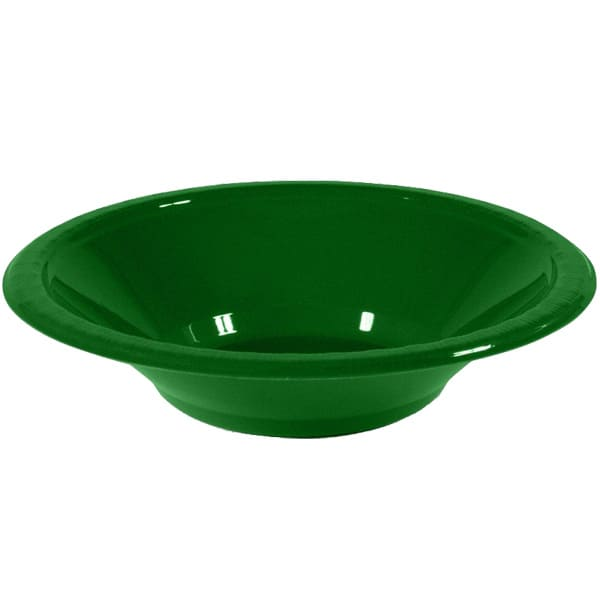 Green Plastic Bowls 17cm - Pack of 20