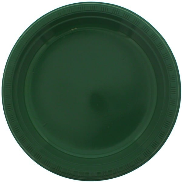 Green Plastic Plate - 9 Inches / 23cm