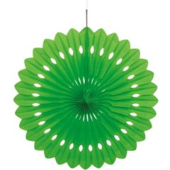 Green Hanging Decorative Honeycomb Fan