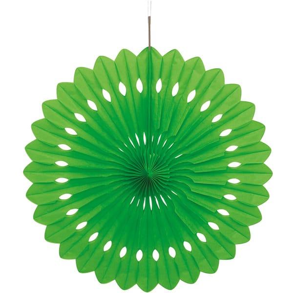 Green Hanging Decorative Honeycomb Fan 40cm