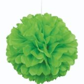 Green Honeycomb Hanging Decoration Puff Ball