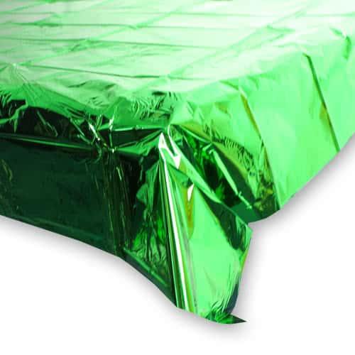 Green Metallic Table Cover 137cm X 259cm Partyrama Co Uk