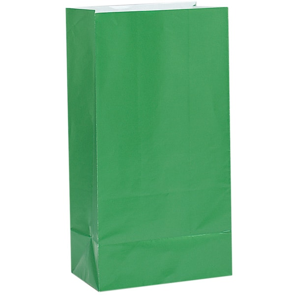 Green Paper Party Bag - Pack of 12