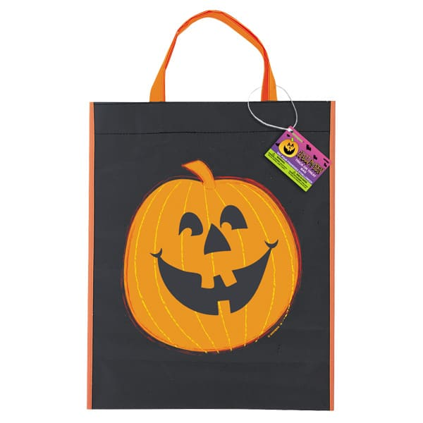 Halloween Pumpkin Trick or Treat Tote Bag – 15 x 12 Inches / 39 x 31cm