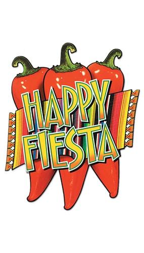 Happy Fiesta Decorative Cutout - 17 Inches / 43cm