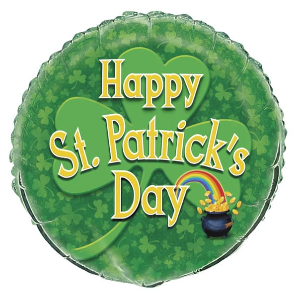 Happy St. Patricks Day Foil Helium Balloon 46cm / 18Inch Product Image