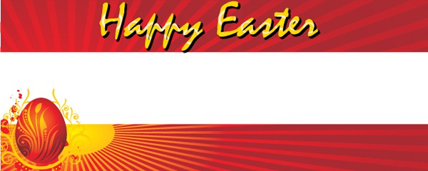 It's Easter Time Design Small Personalised Banner - 4ft x 2ft