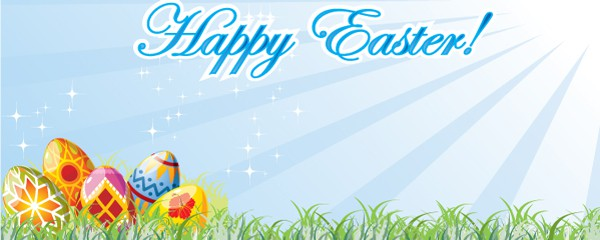 Happy Easter Hunt Design Small Personalised Banner - 4ft x 2ft