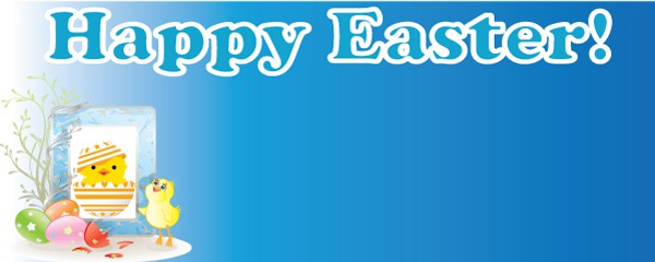 Happy Easter Card Design Small Personalised Banner - 4ft x 2ft