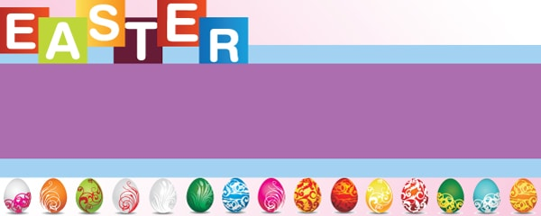 Assorted Easter Egg Design Small Personalised Banner - 4ft x 2ft