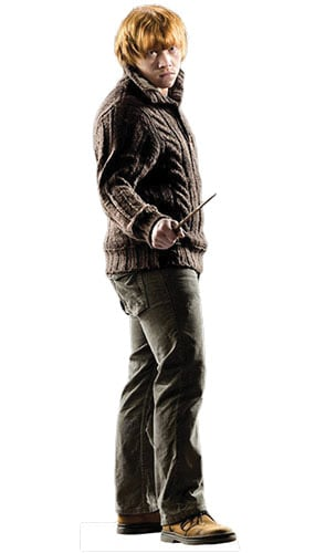 Harry Potter & the Deathly Hallows Ron Weasley Lifesize Cardboard Cutout - 175cm Product Gallery Image
