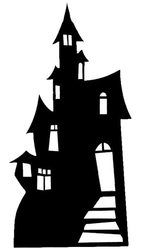 Haunted House Lifesize Cardboard Cutout - 186cm Product Gallery Image