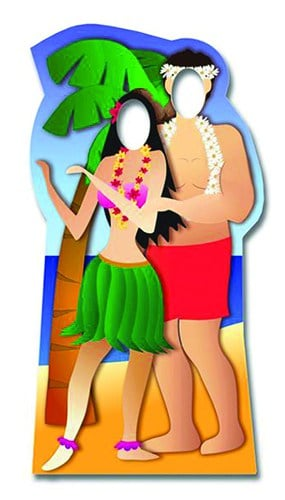 Hawaiian Couple Stand In Cardboard Cutout - 188cm Product Gallery Image