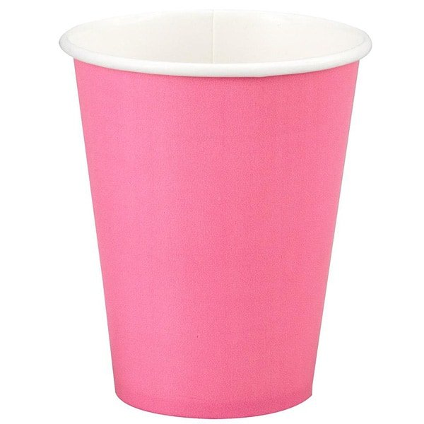 Hot Pink Paper Cup - 9oz / 266ml