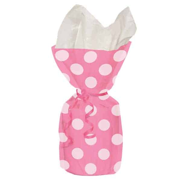 Hot Pink Decorative Dots Gift Bags - Pack of 20