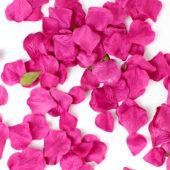 Hot Pink Fabric Rose Petals