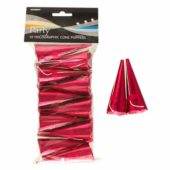 Hot Pink Holographic Cone Party Poppers – Pack of 10