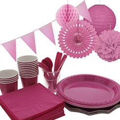 Hot Pink plain tableware