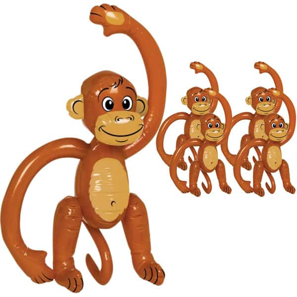 Inflatable Monkey - 23 Inches / 58cm - Pack of 5 Product Image