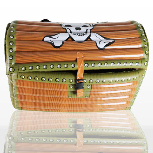 Inflatable Treasure Chest Cooler - 25 Inches / 64cm
