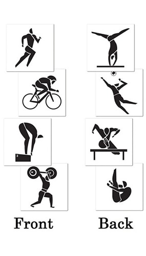 International Summer Sports Decorative Cutouts - 12 Inches / 30cm - Pack of 4