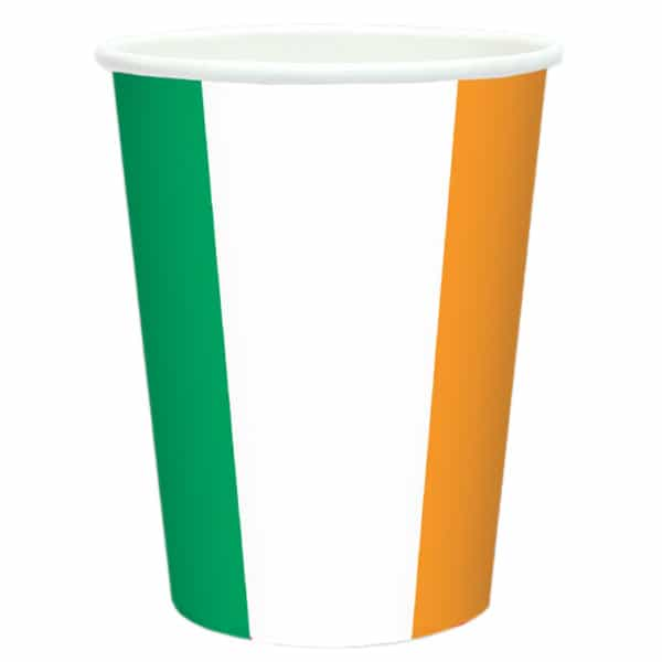 Ireland Flag Theme Paper Cup 266ml