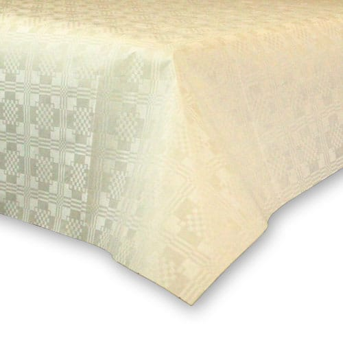Ivory Paper Tablecover - 90cm x 90cm