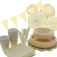 Ivory plain tableware